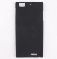 Черный пластиковый с антискользящим покрытием чехол для Lenovo K900, фото 1