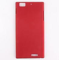 Красный пластиковый с антискользящим покрытием чехол для Lenovo K900