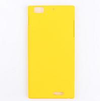 Желтый пластиковый с антискользящим покрытием чехол для Lenovo K900, фото 1