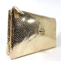 Кожаный клатч Desisan 070 золотистый, расцветки в наличии