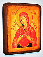 Подарочная икона Пресвятой Богородицы Семистрельная