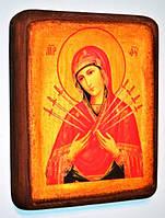 Большая подарочная икона Пресвятой Богородицы Семистрельная