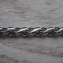 Срібний браслет, 185мм, 9 грам, плетіння Струмок, фото 3