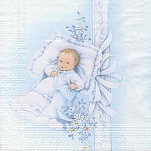 Декупажная салфетка Новорожденный малыш 5760