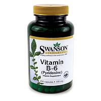 Витамин В6 Пиридоксин, Swanson Premium, 100 мг, 250 капсул