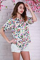 Нарядная женская рубашка большого размера с модным рисунком