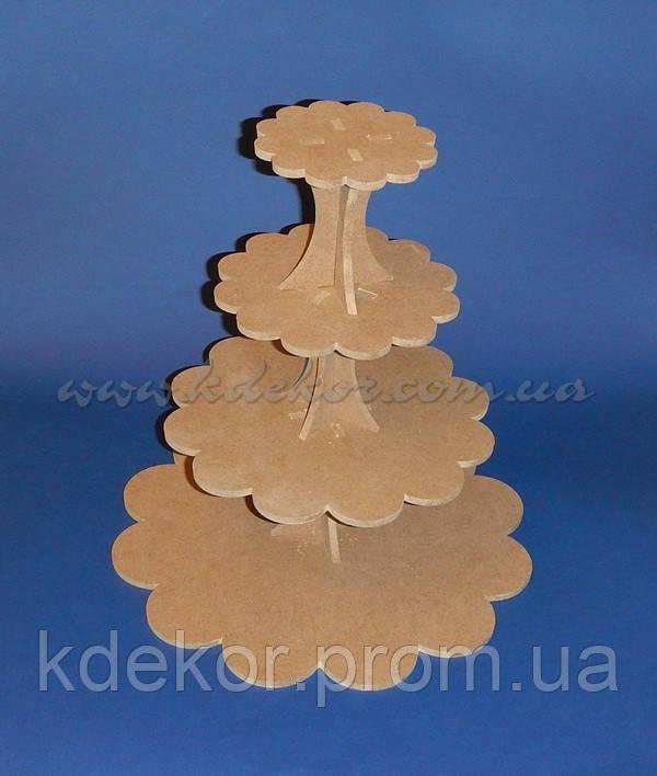 Підставка для торта, кексів, капкейків заготівля для декору