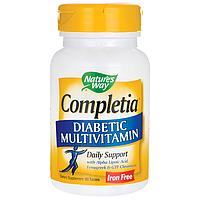 Диабетические  витамины, Natures Way, Completia, 60 таблеток