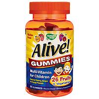 Витамины детские Alive! Nature's Way, 90 жевательных мишек