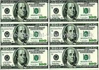Вафельные деньги 100 долларов