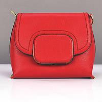 Сумка средняя кожзам женская красная Diary Klava 2961, фото 1