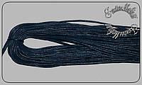 Шнурки пропитка 1м тонкие (2мм) длина 1м т,синие.