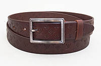 Женский кожаный ремень Louis Vuitton (коричневый), фото 1