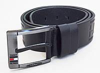 Мужской классический кожаный ремень для джинс, фото 1