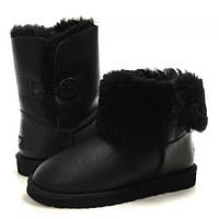 Угги UGG Bailey Button Bomber Black