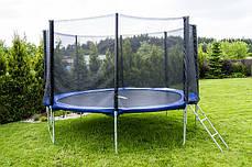 Батут 10фт. (305 см) FUNFIT (Польша) + защитная сетка, лесенка, фото 2