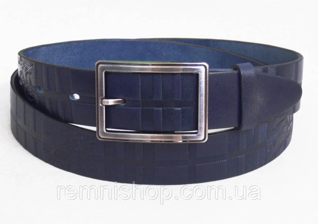 Женский кожаный ремень Burberry синий