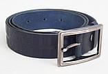 Женский кожаный ремень Burberry синий, фото 2