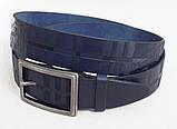 Женский кожаный ремень Burberry синий, фото 4