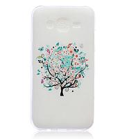 """Cиликоновый чехол """"Дерево с бабочками"""" на Samsung Galaxy J5"""