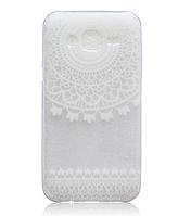 Cиликоновый белый чехол с рисунком на Samsung Galaxy J5