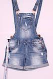 Женский джинсовый комбинезон шорты , фото 2