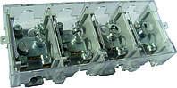 Кабельный разветвитель 37/6x4, латунь, (под опломбирования), сечение max/min 37-6, 125A/35A, 400B, без крышки, Electro