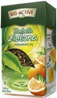Чай зеленый Big-Active с апельсином, 100 гр