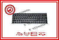 Клавиатура LENOVO Flex 15, Flex 15D, G500s, G505s, S510p черная с серебристой рамкой RU/US