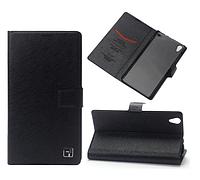 Черный чехол-книжечка-подставка для Lenovo S850