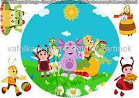 Вафельная картинка Лунтик и друзья