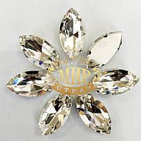Cтразы в цапах 13х27мм Цвет Crystal