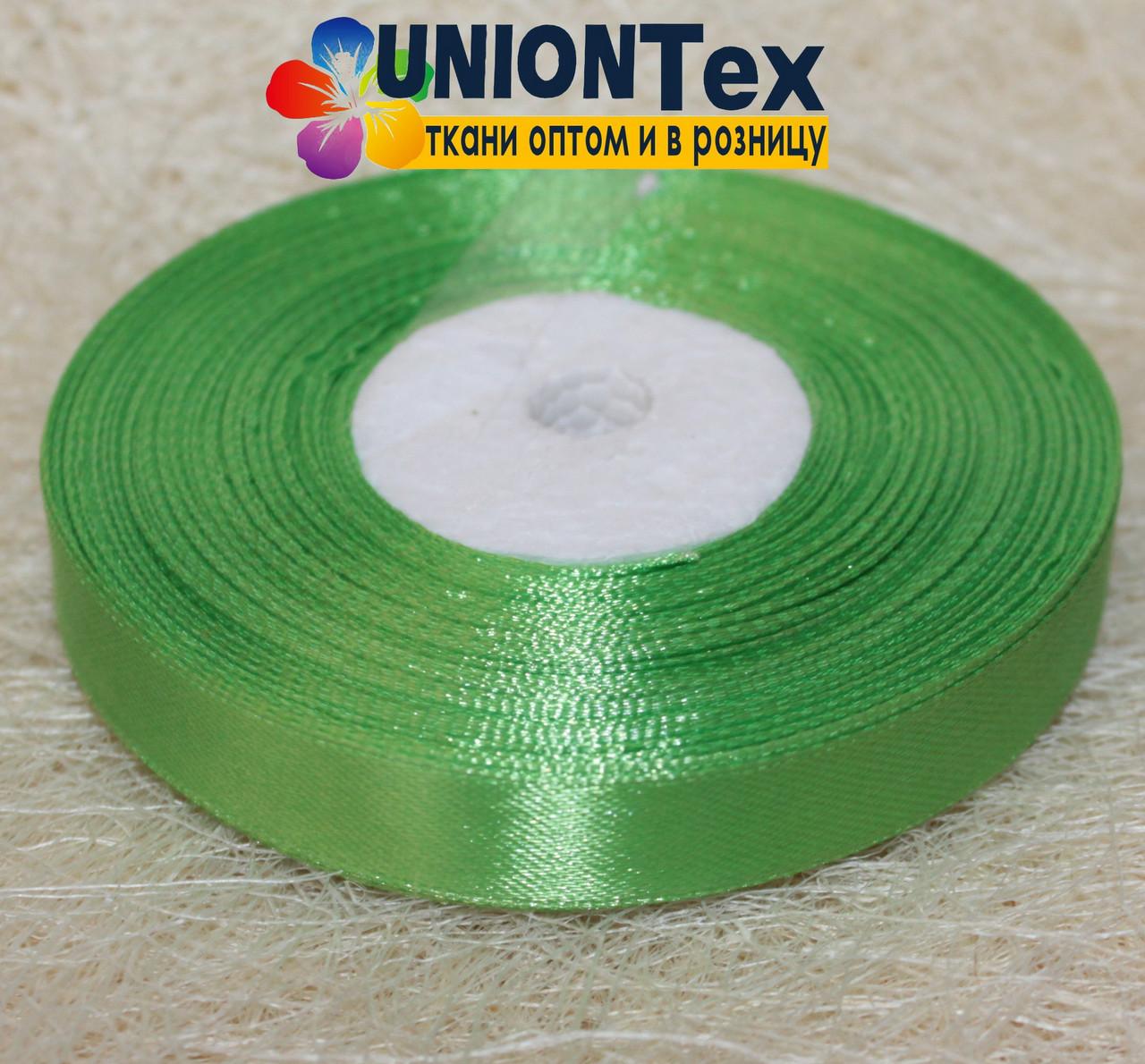 Лента атласная 1,25 см светло-зеленая