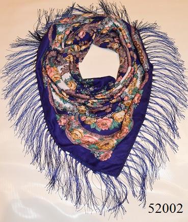 Теплый стильный павлопосадский платок (52002) 1