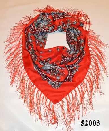 Теплый стильный павлопосадский платок (52003) 1
