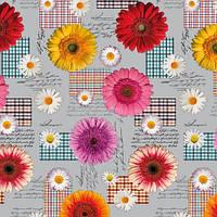 Клеенка на стол и стену с цветочками на ПВХ основе