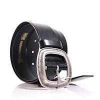 (Hera) Итальянская кожа гладкая. Пряжка старое серебро. Ремень Г3550Ш13 черный