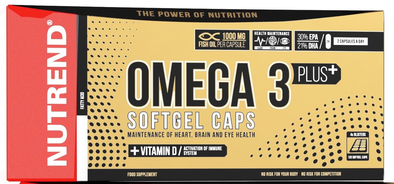 Nutrend Omega 3 plus 120 softgel caps