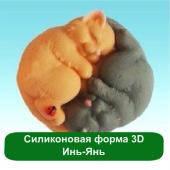 Силиконовая форма 3D Инь-Янь