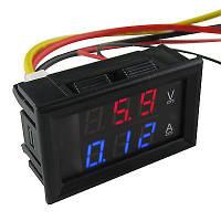 Цифровой вольтметр/амперметр 100В, 10А, фото 1