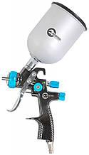 LVLP BLUE NEW Професійний фарборозпилювач 1,4 мм, верхній металевий бачок 600 мл. INTERTOOL PT-0133