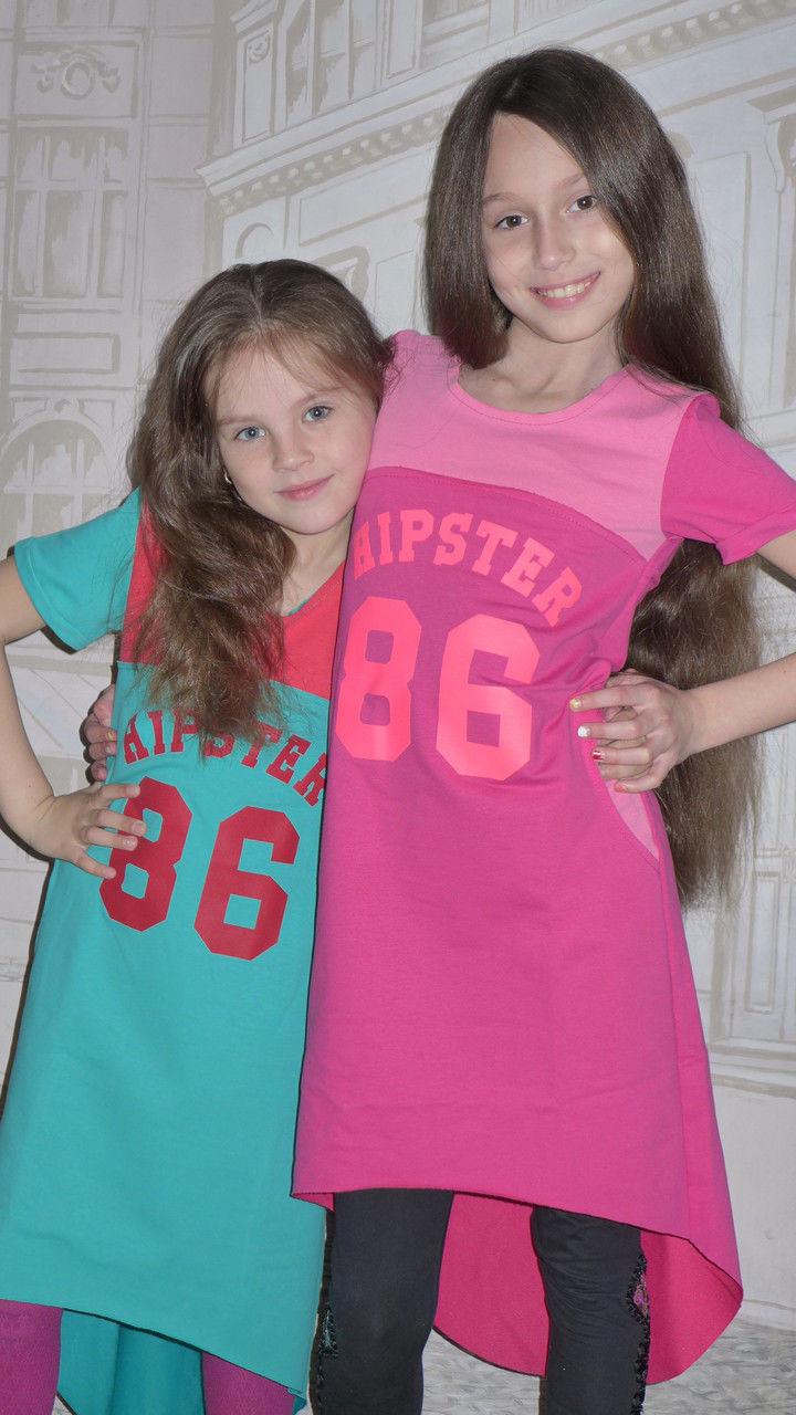 Платье-футболка на рост 128-156см