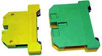 Клеммник заземления наборной JXB  4/35 сечение min/max 0,2-4 желто-зеленый Electro