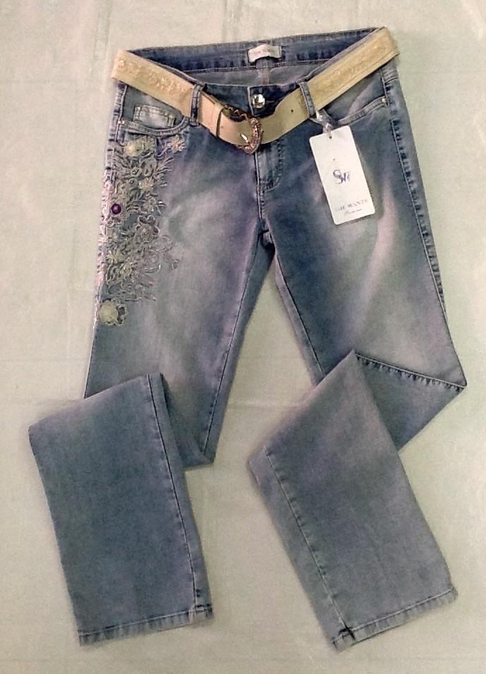 5ac016e9a9f Джинсы женские РАЗМЕР+ голубые лето с вышивкой - Интернет-магазин