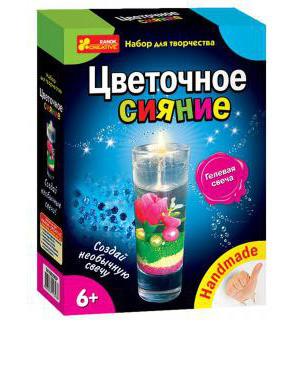 """Гелевые свечи """"Цветочное сияние"""" 14100295Р, 3068-01"""