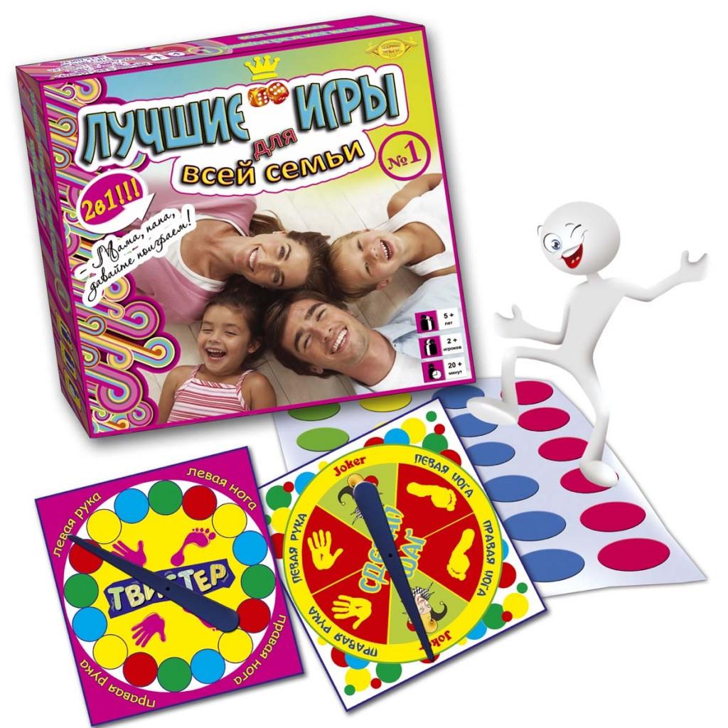 Игровой комплект Мастер Лучшие игры для всей семьи №1 (твистер + сделай шаг) (МКБ0133)