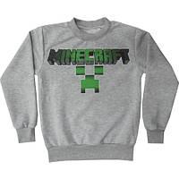 Джемпер реглан подростковый Майнкрафт Minecraft  134 140 146 152 158