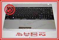 Клавиатура Samsung RC508 RC520 RV509 RV511 RV513 RV515 черная с топкейсом (клавиатура+динамики+тачпад) RU/US