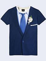 Мужская футболка Костюм с галстуком