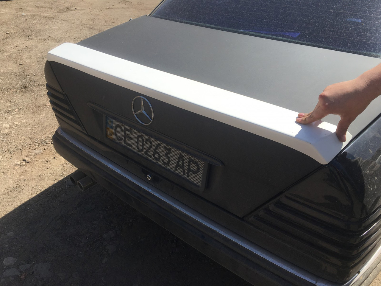 Mercedes W124 Спойлер под покраску - Digital Designs Ukraine в Черновцах